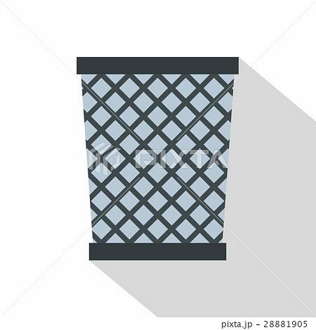 Wire metal bin icon, flat styleのイラスト素材 [28881905] - PIXTA