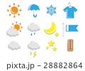 天気 気象 アイコンのイラスト 28882864