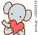 ハートを持つ動物  ゾウ 28882919