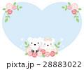 クマのハートのウェディングカード(水色) 28883022