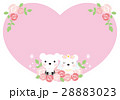 クマのハートのウェディングカード(ピンク) 28883023