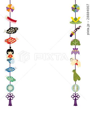 こどもの日 五月人形のつるし飾りのイラスト素材 28884007 Pixta