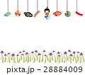 こどもの日 五月人形のつるし飾り 28884009