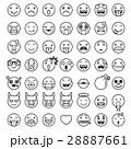 アイコン イコン 顔文字のイラスト 28887661