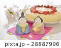 ひな人形とババロアケーキ 28887996