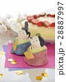 ひな人形とババロアケーキ 28887997