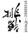 挑戦 筆文字 文字のイラスト 28889316