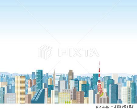 東京の町並み イラストのイラスト素材 28890382 Pixta