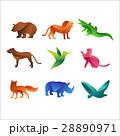 Wild animals jungle pets logo silhouette of 28890971