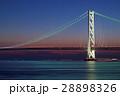 明石海峡大橋 夕景 夕暮れの写真 28898326