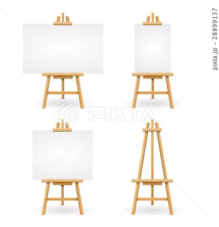 Wooden Easel or Painter Desk. Vectorのイラスト素材 [28899137] - PIXTA