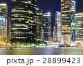 Brisbane city skyline at night 28899423