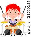 ロック ガールズバンド ドラム 28900285