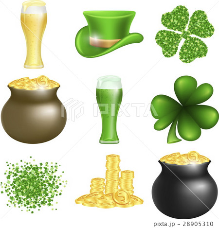 Saint Patricks Day setのイラスト素材 [28905310] - PIXTA