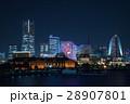 夜景 コスモクロック ランドマークタワーの写真 28907801