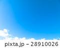 空 白い雲 青空の写真 28910026