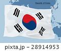 韓国国旗と世界地図 28914953