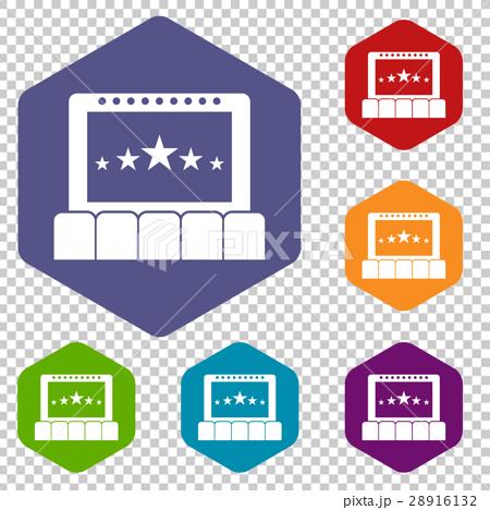 Cinema icons set 28916132