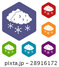 Clouds and snow icons set 28916172