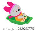 ウサギの橇あそび 28923775