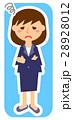 女性会社員 困る 悩むのイラスト 28928012