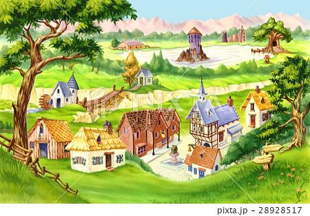 Fairytale Villageのイラスト素材 [28928517] - PIXTA