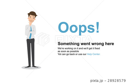 page not found error 404 vector templateのイラスト素材 28928579