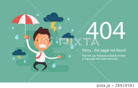 page not found error 404 vector templateのイラスト素材 28928581