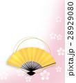 桜 和柄 和風イメージのイラスト 28929080