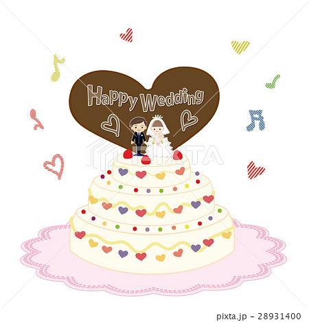 ウエディングケーキのイラスト素材 28931400 Pixta