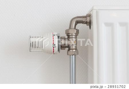 Temperature knob of radiator, used and dustyの写真素材 [28931702] - PIXTA