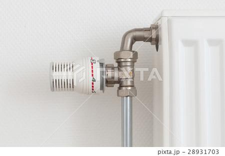 Temperature knob of radiator, used and dustyの写真素材 [28931703] - PIXTA
