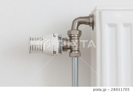 Temperature knob of radiator, used and dustyの写真素材 [28931705] - PIXTA