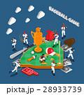 Baseball Game Isometric Composition 28933739