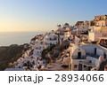 サントリーニ島の夕日 リゾート地 エーゲ海の島 28934066