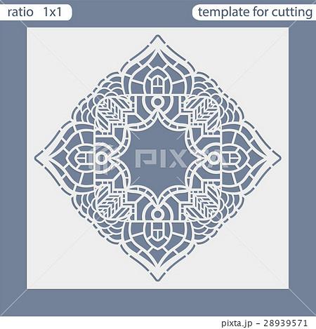 Laser cut wedding invitation card template 28939571