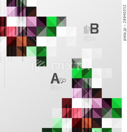 Square elements with infographics and optionsのイラスト素材 [28940352] - PIXTA