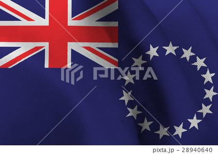 Cook Islands national flag 3D illustration symbol  28940640