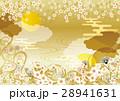 桜 和柄 金のイラスト 28941631