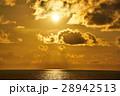 日本海 夕暮れ 海の写真 28942513