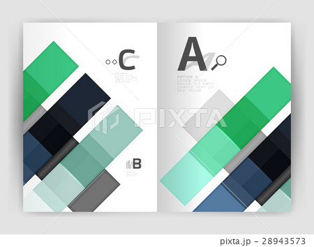 Vector modern geometrical a4 flyer brochureのイラスト素材 [28943573] - PIXTA