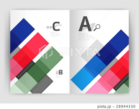 Vector modern geometrical a4 flyer brochureのイラスト素材 [28944330] - PIXTA