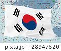 韓国国旗と地図 28947520