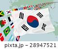 韓国国旗と地図 28947521