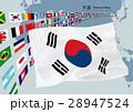 韓国国旗と地図 28947524