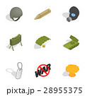 Army icons set, isometric 3d style 28955375