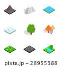 Nature scene icons set, isometric 3d style 28955388