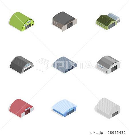 Industrial building icons, isometric 3d styleのイラスト素材 [28955432] - PIXTA