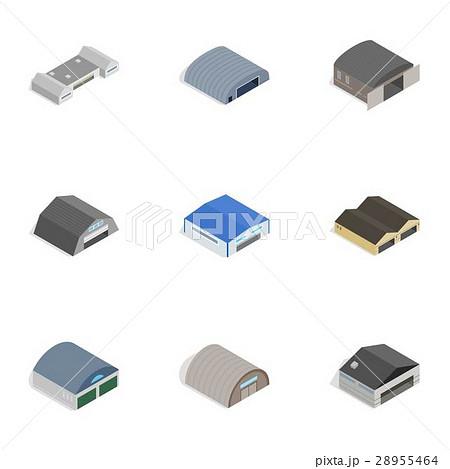 Storage building icons, isometric 3d styleのイラスト素材 [28955464] - PIXTA