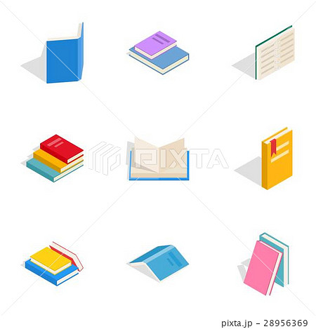 Literature icons, isometric 3d style 28956369